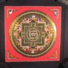 Gold  Treasure Vase Mandala Thangka Thanka painting Nepal Art A29