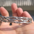 999 to 970 fine silver hill tribe bangle bracelet jewelry art Thailand A149