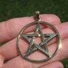 Bronze Pentagram Pentacle Pendant Necklace A22