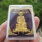 Metal  Monk Buddha Good luck figure Thailand Amulet ED5139