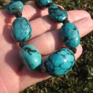 Tibetan Turquoise Bead Necklace Nepal Jewelry Stone Art A19