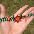 Huichol Bead Indian Bracelet Jewelry Art Hand Made Guadalajara Mexico A81