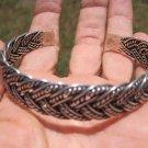 999 to 970 fine silver hill tribe bangle bracelet Thailand A110
