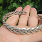 999 to 970 fine silver hill tribe bangle bracelet Thailand jewelry art A83