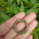 Natural Jadeite Jade ring Thailand jewelry stone mineral size  10 US  EB 074