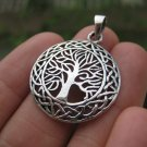 925 Silver tree of life pendant necklace Thailand jewelry art A3