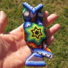 Huichol Bead Indian Owl Bird Art Hand Made Mexico A19