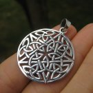 925 Silver Star Celtic Knot Star Pegan Wicca Pentacle Pentagram Magic A14