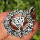 925 Silver Valknut Triquetra Triangle Norse Viking Celtic Odin Pendant Necklace
