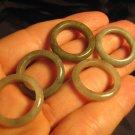Set 5 Natural Jadeite Jade Stone Mineral Ring Rings Thailand Size 6.5 -7.5 US