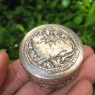 Small Lion Tiger 50 % Silver 50 % Copper box Cambodia art