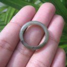 Natural Jadeite Jade ring Thailand jewelry stone mineral size  7 US   E 59133