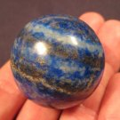 "Natural 1.3"" Lapis Lazul Lazuli Crystal Stone ball carving Mineral Statue art A3"