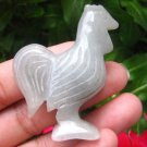 Natural Jadeite Jade Green Chicken Rooster Carving Statue Statue Myanmar  EB483