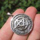 925 Silver Satanic Pentagram Pendant Pentacle necklace jewelry Art A18