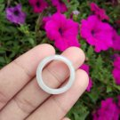 Natural Jadeite Jade ring Thailand jewelry stone mineral size  7 US  EB 051