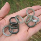 Set 9 ( lot ) Natural Jade ring Thailand jewelry stone art size US 6.5  7