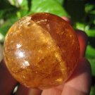 Natural calcite quartz stone crystal  ball Mineral art carving A41