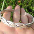999 to 970 fine silver hill tribe bangle bracelet Thailand jewelry art A34