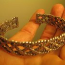 999 to 970 fine silver hill tribe bangle bracelet jewelry art Thailand A154