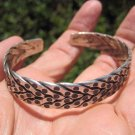 999 to 970 fine silver hill tribe bangle bracelet Thailand A115