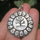 925 Silver Viking Runes Tree of Life Pendant Necklace A19