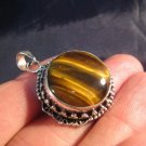 925 Silver Tiger Tiger's Eye pendant nepal jewelry art   A3