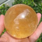 Large Natural calcite quartz stone crystal  ball Mineral art carving A6