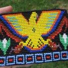 Huichol Bead Indian Coin Purse Bag Wallet Art Hand Made Guadalajara Mexico A76