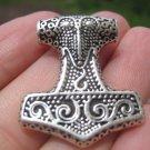 925 Silver Viking Mjolnir Mjolhner Ravin Hammer of Thor Pendant A27