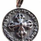 925 Silver Viswa Vajra Pendant Necklace A7