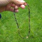 925 Silver Old Roman Glass Lemon Quartz  Bead necklace Afghanistan A156