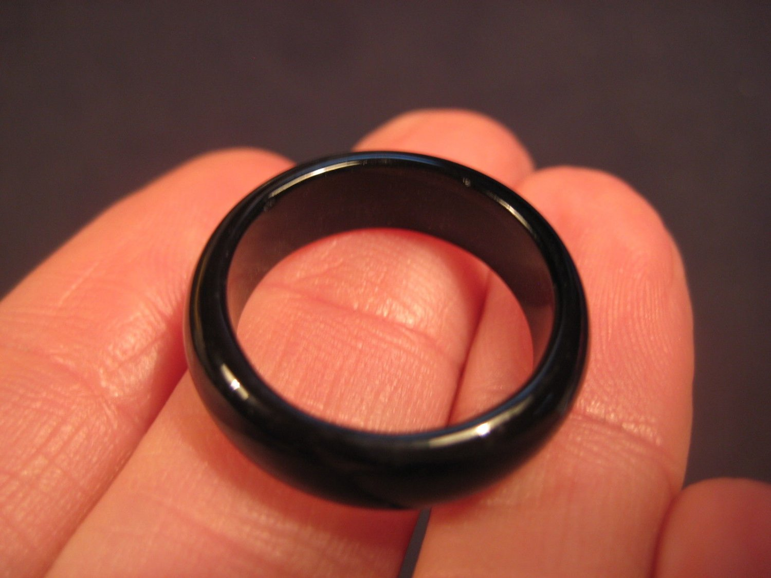 Natural Black Agate ring Thailand jewelry stone art size  6.5 US