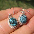 925 Silver Tibetan Turquoise earrings earring jewelry mineral stone  art A62