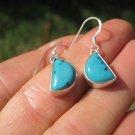 925 Silver Tibetan Turquoise earrings earring jewelry art A35