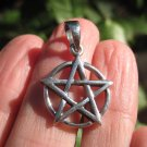 Small 925 Silver Pentagram Pentacle pendant necklace Thailand Wicca jewelry A6