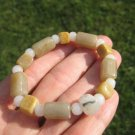 Natural  Jadeite Jade Bead Bracelet  Jewelry art A60