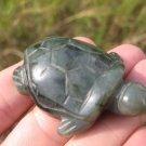 Natural Jadeite Jade Dark Green Turtle  Carving Statue Myranmar  EB397