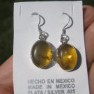 925 Silver Natural Chiapas  Amber Earrings Ear ring Taxco Mexico Jewelry Art A25