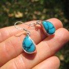 925 Silver Tibetan Turquoise earrings earring jewelry art A28