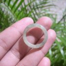 Natural Jadeite Jade ring Thailand jewelry stone mineral size  6.5 US   E 59103