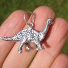 925 Silver Dinosaur Pendant Necklace Jewelry Taxco Mexico A2