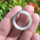 Natural Jadeite Jade ring Thailand jewelry stone mineral size 6.75 US  E 591111