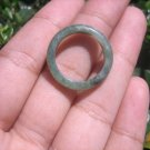 Natural Jadeite Jade ring Thailand jewelry stone mineral size  6.75 US   E 59126