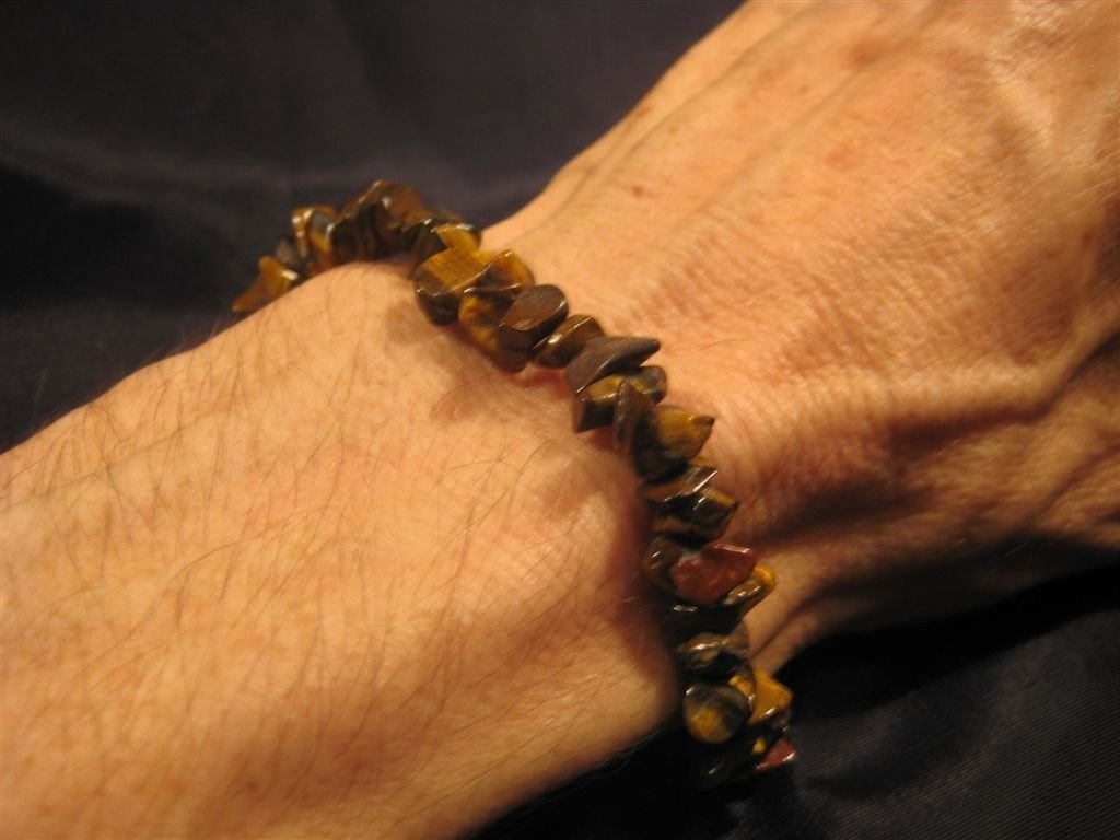 Natural Stone Tiger's Tiger Eye chunk bracelet A