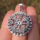 925 Silver Viking Nourse Celtic  Trident Pendant Necklace jewelry Art A14