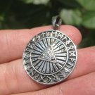 925 Silver Viking Norse Valknut Runes Triquetra  Pendant Necklace A6