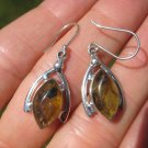 925 Silver Natural Chiapas  Amber Earrings Ear ring Taxco Mexico Jewelry Art A24