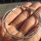 "999 to 970 fine silver hill tribe bead bracelet Thailand jewelry art 6.5"" A90"