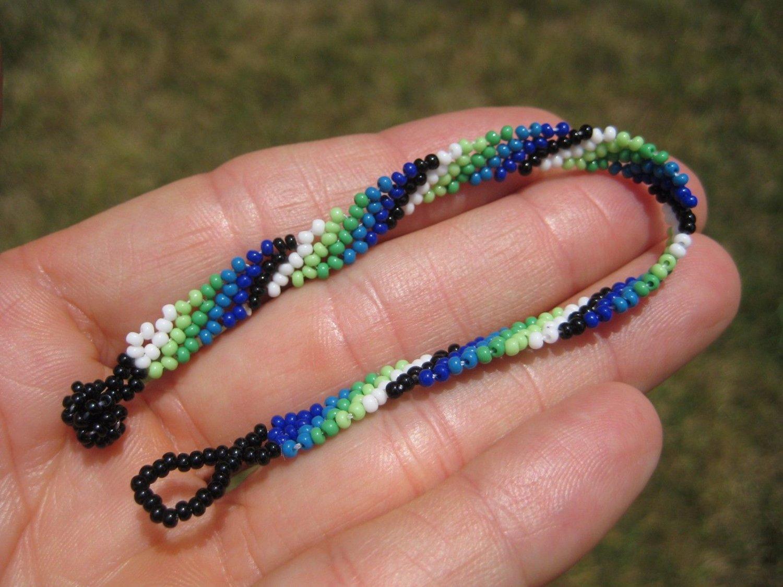 Huichol Bead Indian Bracelet Jewelry Art Hand Made Guadalajara Mexico A72